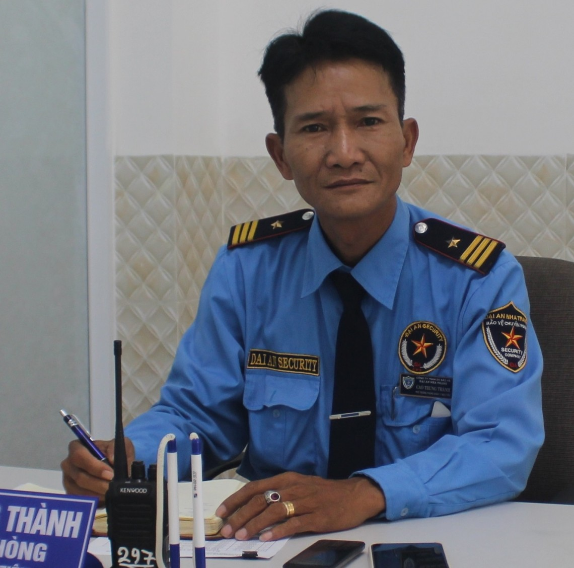 Cao Trung Thành, Head of Sites Management - Dai An Nha Trang Security Service Company Ltd